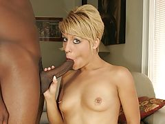 Blonde Takes Black Cock in Muff and Ass